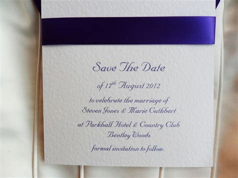 save  date card  white card royal bmore save