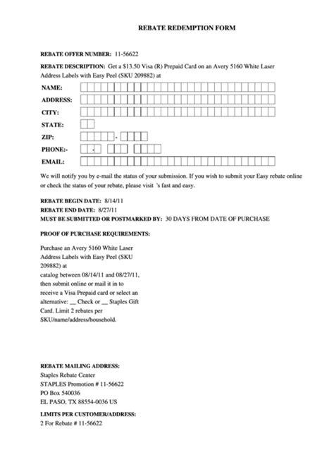 top staples rebate form templates
