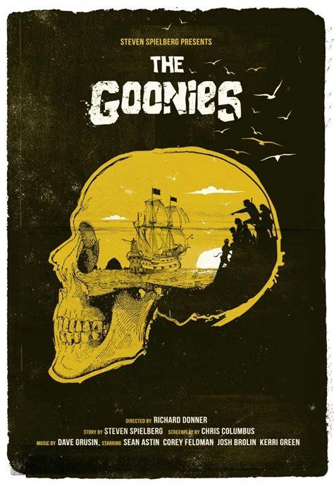 alternative  goonies poster film print skull