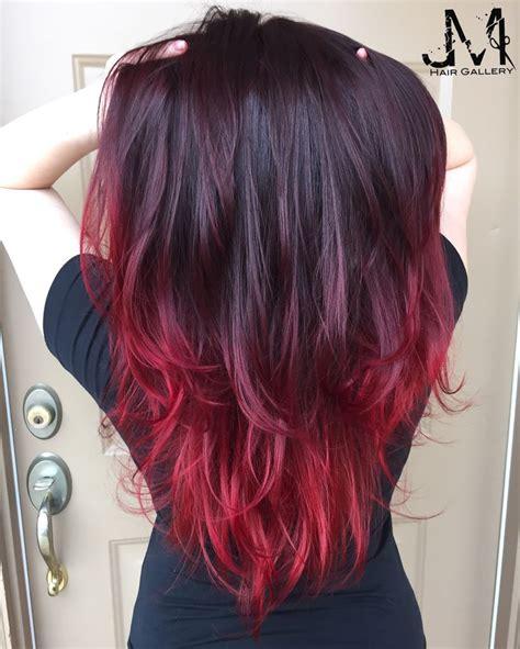 Hair Color Red Hair Purple Hair Ombré Jm Hair Gallery