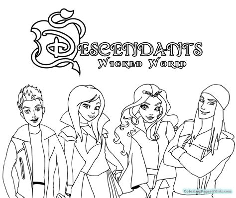 descendants coloring pages  printable coloring pages