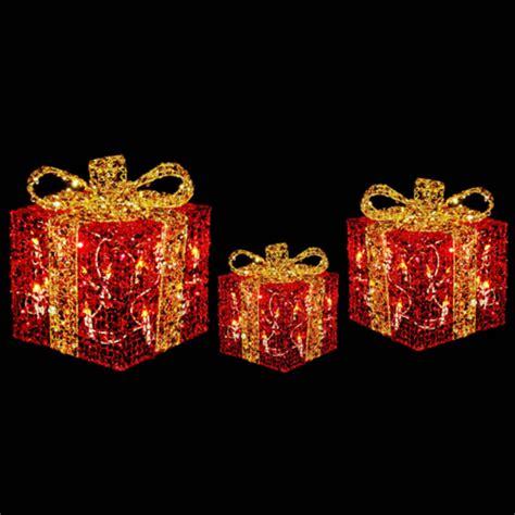 led light up presents best 28 light up christmas boxes 3 x festive glittery