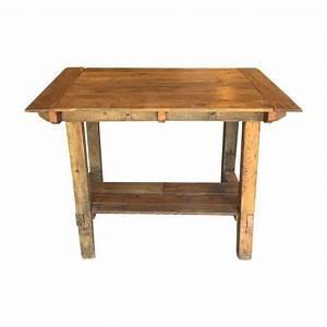 Pub Height Reclaimed Wood Table on Chairish com bar or