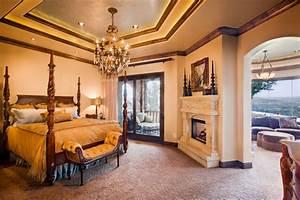 Master Bedroom with Sitting Room - Mediterranean - Bedroom ...