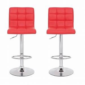 Chaise De Bar Rouge : tabouret de bar rouge ~ Teatrodelosmanantiales.com Idées de Décoration