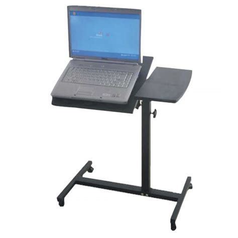 roll away computer desk mobile laptop cart office furniture
