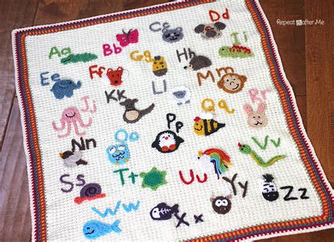 crochet animal alphabet afghan repeat crafter