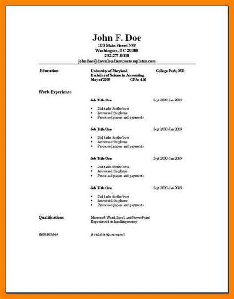 9 easy resume template addressing letter