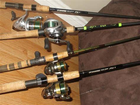 show  rod setup fishing rods reels   knots