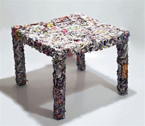 table   recycled ikea catalogue recyclart