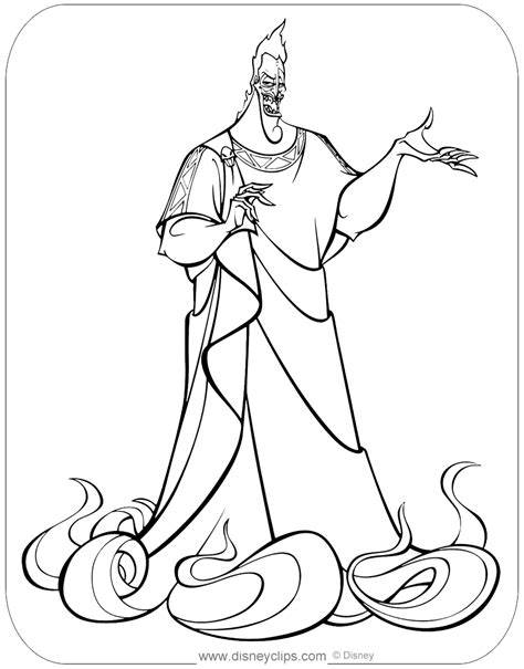 disneys hercules coloring pages  disneyclipscom