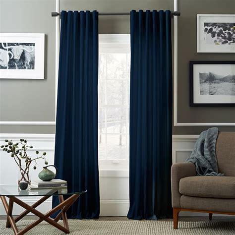 west elm velvet curtains velvet pole pocket curtain regal blue west elm