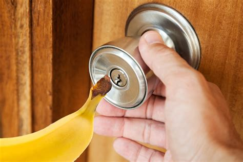 how to lock your door without a lock how to open a locked door with a banana