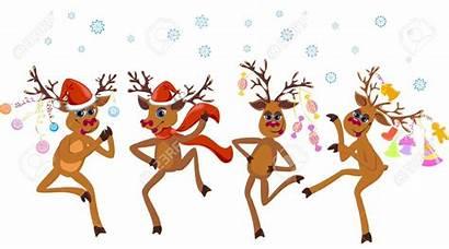 Reindeer Dancing Dance Rudolph Card Natale Kerstkaart