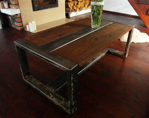 Couchtisch Stahl Holz by Handmade Reclaimed Wood Steel Coffee Table Vintage