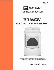 Maytag Bravos Dryer Service Manual Download