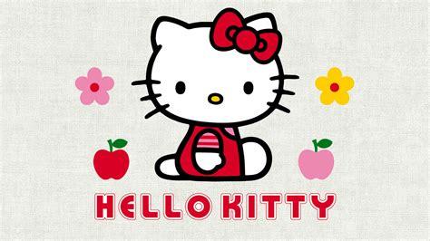 Hello Kitty, Cartoon, Flowers, Apples