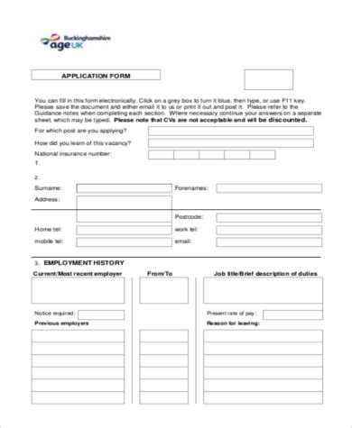 employment history form pdf sle employment history forms 9 free documents in