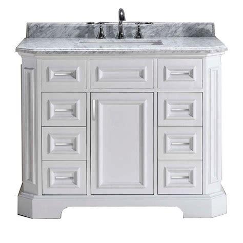 pegasus bristol 42 in vanity in white with marble vanity