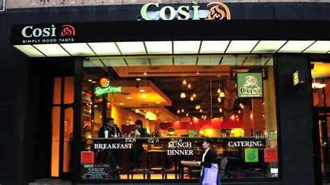 cosi cuisine cosi incorporated q3 earnings figures add to company 39 s