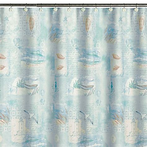 high shower curtain high tide fabric shower curtain bed bath beyond