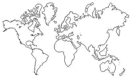 world map clipart outline  clipart