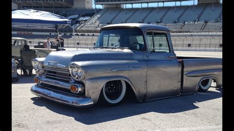 bagged chevy apache truck swb ls  le youtube
