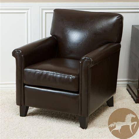 christopher home leeds classic brown bonded leather