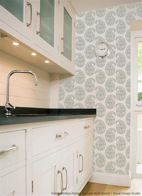 Hot Stencil Ideas For Summer Kitchens  Paint + Pattern