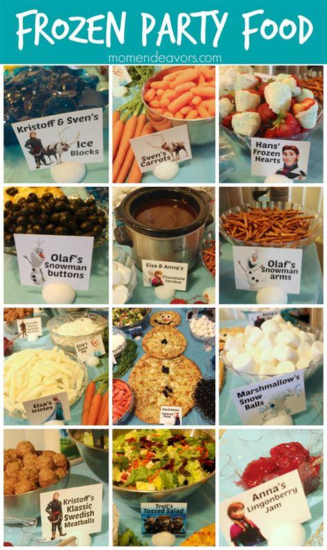 food ideas disney frozen party food menu