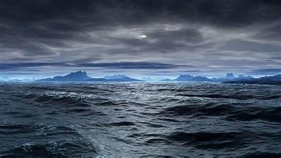 Waves Sea Landscape Clouds Ocean Mountain Bad