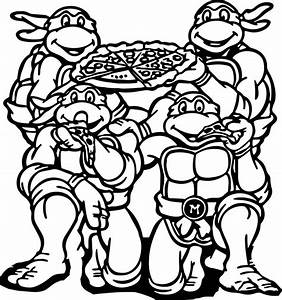 Teenage Mutant Ninja Turtles Coloring Pages Birthday