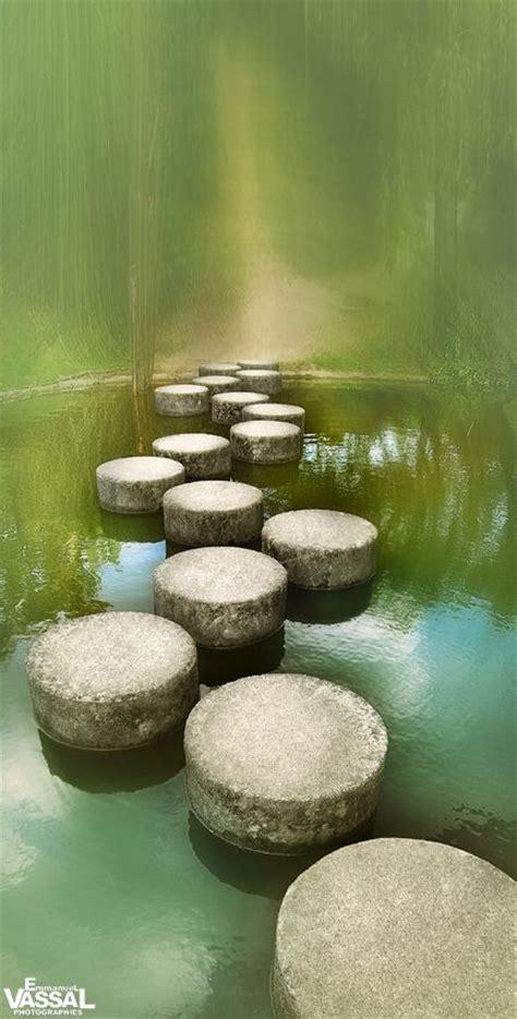 stepping stone   pond japan buddha quote zen buddha
