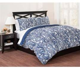 blue paisley comforter set king size 3 piece bedding with shams ebay