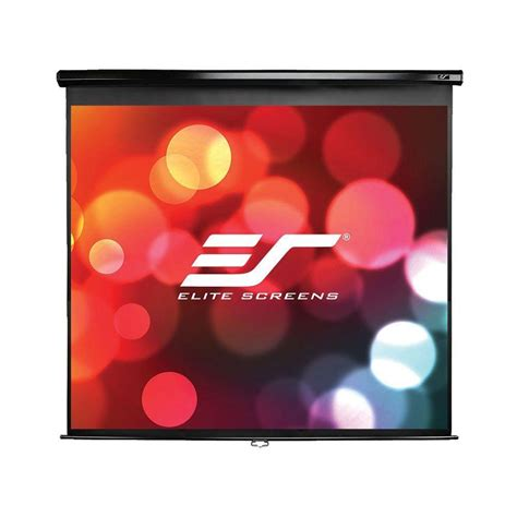 elite screens   manual pull  wall  ceiling