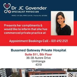 dr jaqueline cindy govender specialist physician