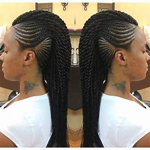 Mohawk Braid Hairstyles, Black Braided Mohawk Hairstyles