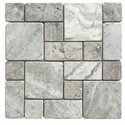 lowes kitchen backsplashes shop avenzo silver mosaic indoor outdoor