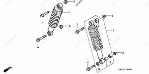Honda Atv 2001 Oem Parts Diagram For Front Shock Absorber