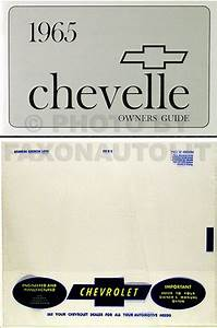 1965 Chevelle Owners Manual With Envelope Ss El Camino