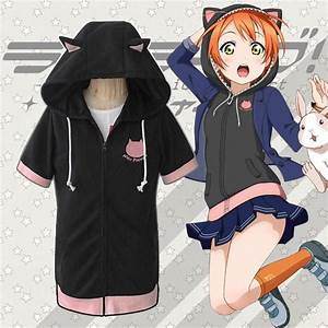 Love Live Hoshizora Rin Cat Zipper Hoodie T Shirt SD00845
