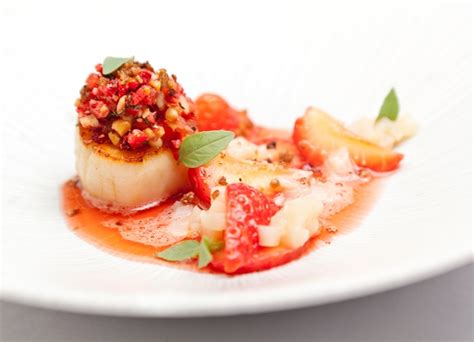 Scallops With Strawberries Recipe  Great British Chefs