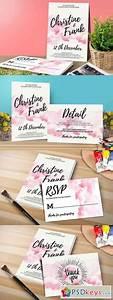 watercolor wedding invitation set 1122056 free download With watercolor wedding invitations photoshop