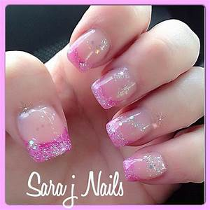 Pretty Pink Glitter Acrylic Nail Design   Nails By Me ...