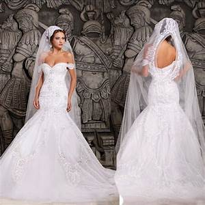 luxurious mermaid wedding dresses white off the shoulder With white off the shoulder wedding dress