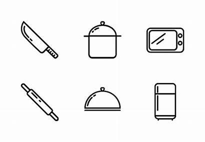 Kantor Appliances Kitchen Tegalsari Icon Domestic Outline