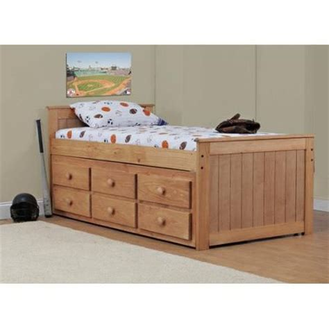 wildon home twin captain bed with 6 storage drawers twin