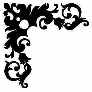 Black And White Flower Borders Design - Border Designs ...