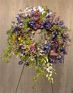 orchids and irises wreath #floral #funeral #tribute ...
