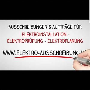 Ausschreibungen Elektroarbeiten